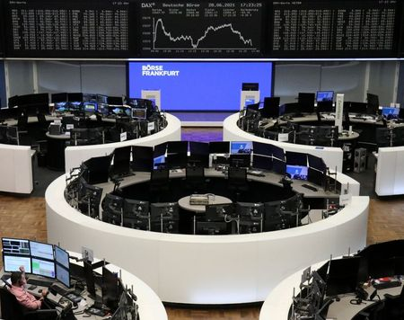 The German share price index DAX graph is pictured at the stock exchange in Frankfurt, Germany, June 28, 2021. REUTERS/Staff