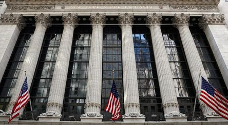 The front facade of the New York Stock Exchange (NYSE) is seen in New York City, U.S., March 29, 2021. REUTERS/Brendan McDermid