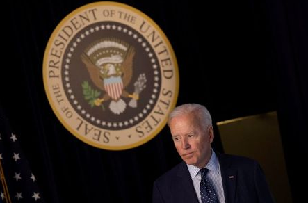 FILE PHOTO: U.S. President Joe Biden departs after delivering an update on his administration's coronavirus disease (COVID-19) response in the Eisenhower Executive Office Building's South Court Auditorium at the White House in Washington, U.S., June 2, 2021. REUTERS/Carlos Barria/File Photo