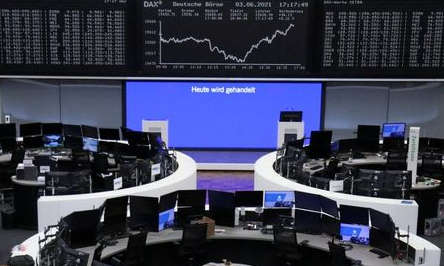 The German share price index DAX graph is pictured at the stock exchange in Frankfurt, Germany, June 3, 2021. REUTERS/Staff