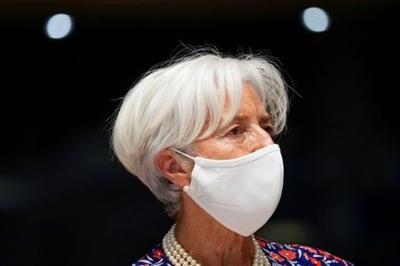 European Central Bank President Christine Lagarde arrives to a meeting of Eurogroup Finance Ministers at the European Council building in Luxembourg, Luxembourg June 17, 2021. Francisco Seco/Pool via REUTERS