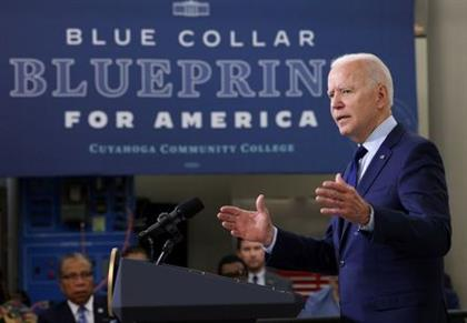 FILE PHOTO: U.S. President Joe Biden delivers remarks on the economy during a visit to Cuyahoga Community College in Cleveland, Ohio, U.S., May 27, 2021. REUTERS/Evelyn Hockstein/File Photo