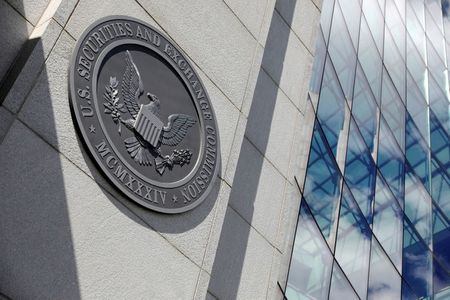FILE PHOTO: The seal of the U.S. Securities and Exchange Commission (SEC) is seen at their headquarters in Washington, D.C., U.S., May 12, 2021. REUTERS/Andrew Kelly/File Photo/File Photo