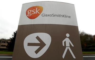 A GlaxoSmithKline (GSK) logo is seen at the GSK research centre in Stevenage, Britain November 26, 2019. REUTERS/Peter Nicholls