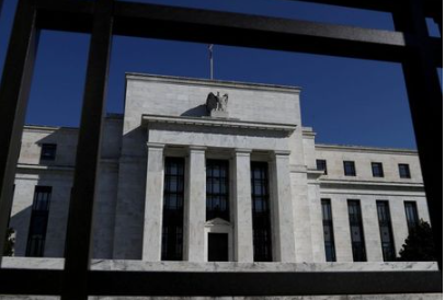FILE PHOTO: Federal Reserve Board building is pictured in Washington, U.S., March 19, 2019. REUTERS/Leah Millis/File Photo