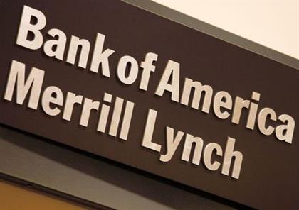 The company logo of the Bank of America and Merrill Lynch is displayed at its office in Hong Kong March 8, 2013. Bank of America Corp will seek more lending and cash management business with companies in Asia and elsewhere outside its U.S. home turf, Chief Executive Brian Moynihan said, an area ripe for expansion where it lags its big rivals. REUTERS/Bobby Yip (CHINA - Tags: BUSINESS LOGO)