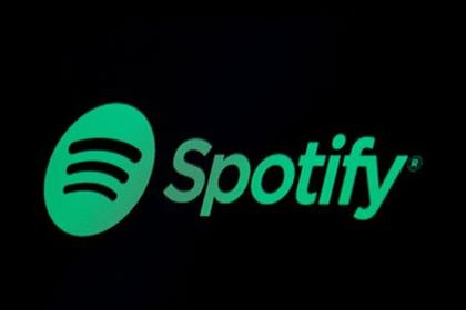 The Spotify logo is displayed on a screen on the floor of the New York Stock Exchange (NYSE) in New York, U.S., May 3, 2018. REUTERS/Brendan McDermid