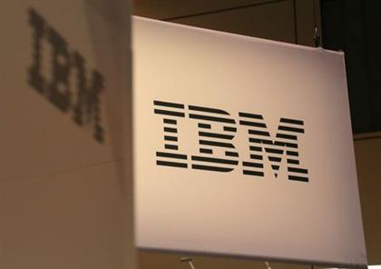 The logo for IBM is seen at the SIBOS banking and financial conference in Toronto, Ontario, Canada October 19, 2017. Picture taken October 19, 2017. REUTERS/Chris Helgren