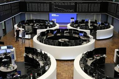 The German share price index DAX graph is pictured at the stock exchange in Frankfurt, Germany, July 19, 2021. REUTERS/Staff
