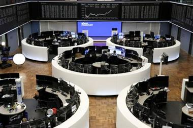 The German share price index DAX graph is pictured at the stock exchange in Frankfurt, Germany, July 30, 2021. REUTERS/Staff