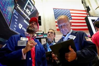 Traders gather for the IPO of VTEX, Brazil's digital commerce company, at the New York Stock Exchange (NYSE) in New York City, New York, U.S., July 21, 2021. REUTERS/Brendan McDermid