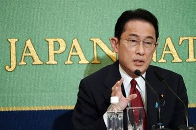 Japan's former Minister for Foreign Affairs Fumio Kishida, one of the candidates for the presidential election of the ruling Liberal Democratic Party (LPD), speaks during a debate session held by Japan National Press club, in Tokyo, Japan, September 18, 2021. Eugene Hoshiko/Pool via Reuters