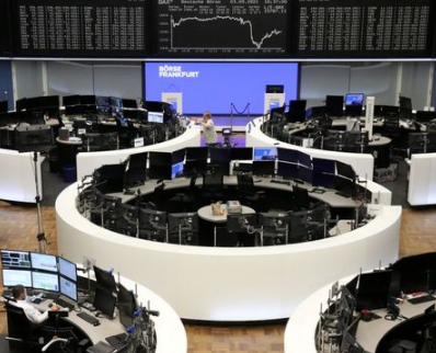 The German share price index DAX graph is pictured at the stock exchange in Frankfurt, Germany, September 3, 2021. REUTERS/Staff