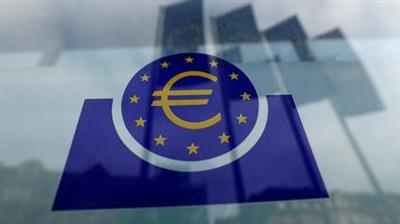 The European Central Bank (ECB) logo is pictured before a news conference on the outcome of the meeting of the Governing Council in Frankfurt, Germany, January 23, 2020. REUTERS/Ralph Orlowski