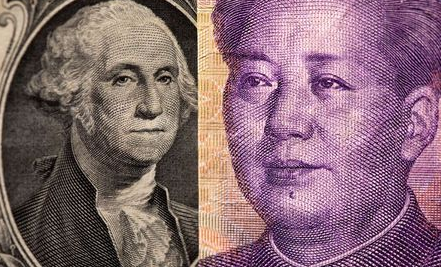 FILE PHOTO: U.S. one dollar and Chinese Yuan are seen in this illustration taken May 7, 2021. REUTERS/Dado Ruvic/Illustration