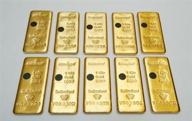 The Sicpa Oasis validator system (bullion protect) is pictured on one kilogram bar of gold at Swiss refiner Metalor in Marin near Neuchatel, Switzerland July 5, 2019. Picture taken July 5, 2019. To match Special Report GOLD-SWISS/FAKES REUTERS/Denis Balibouse