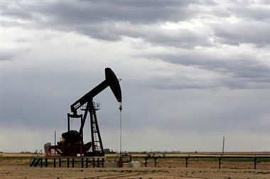 A TORC Oil & Gas pump jack is seen near Granum, Alberta, Canada May 6, 2020. Picture taken May 6, 2020. REUTERS/Todd Korol