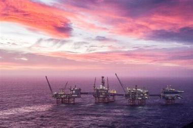FILE PHOTO: A view of the Johan Sverdrup oilfield in the North Sea, January 7, 2020. Carina Johansen/NTB Scanpix/via REUTERS ATTENTION EDITORS - THIS IMAGE WAS PROVIDED BY A THIRD PARTY. NORWAY OUT./File Photo
