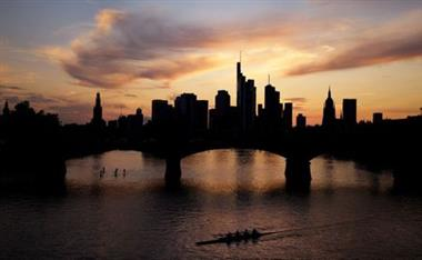 The skyline with the banking district is photographed in Frankfurt, Germany, August 24, 2021. REUTERS/Kai Pfaffenbach