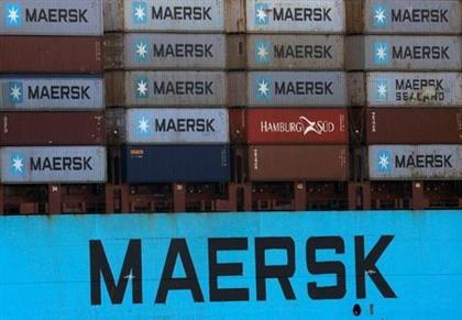 Shipping containers are transpoted on a Maersk Line vessel through the Suez Canal in Ismailia, Egypt July 7, 2021. Picture taken July 7, 2021. REUTERS/Amr Abdallah Dalsh