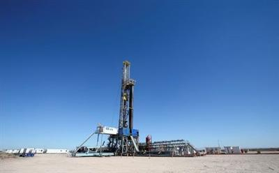 A drilling rig is seen at Vaca Muerta shale oil and gas drilling, in the Patagonian province of Neuquen, Argentina January 21, 2019. Picture taken January 21, 2019. REUTERS/Agustin Marcarian