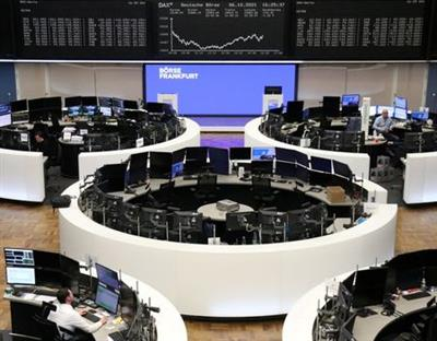 The German share price index DAX graph is pictured at the stock exchange in Frankfurt, Germany, October 6, 2021. REUTERS/Staff