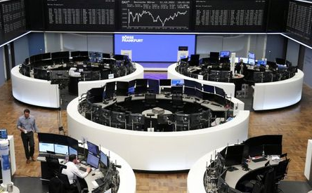 The German share price index DAX graph is pictured at the stock exchange in Frankfurt, Germany, October 11, 2021. REUTERS/Staff