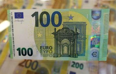 The new 100 euro banknote is seen in the secretive vaults inside the Bank of Italy, in Rome May 21, 2019. Picture taken May 21, 2019 REUTERS/Yara Nardi