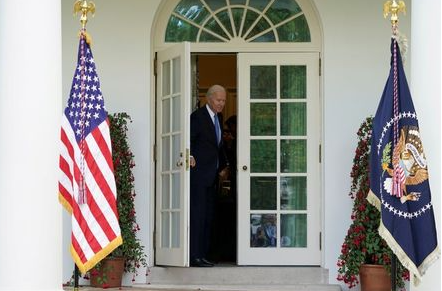 FILE PHOTO: U.S. President Joe Biden leaves after speaking about the coronavirus disease (COVID-19) response and the vaccination program from the Rose Garden of the White House in Washington, U.S., May 13, 2021. REUTERS/Kevin Lamarque/File Photo