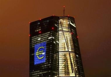 FILE PHOTO: The headquarters of the European Central Bank (ECB) in Frankfurt, Germany, March 12, 2016. REUTERS/Kai Pfaffenbach