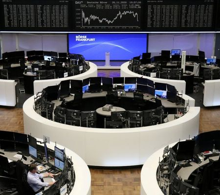 The German share price index DAX graph is pictured at the stock exchange in Frankfurt, Germany, November 26, 2020. REUTERS/Staff