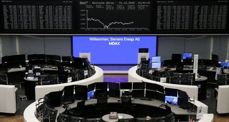 The German share price index DAX graph is pictured at the stock exchange in Frankfurt, Germany, December 21, 2020. REUTERS/Staff