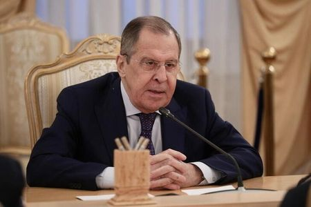 Russian Foreign Minister Sergei Lavrov attends a meeting with U.N. Special Envoy for Syria Geir Pedersen in Moscow, Russia November 19, 2020. Russian Foreign Ministry/Handout via REUTERS ATTENTION EDITORS - THIS IMAGE WAS PROVIDED BY A THIRD PARTY. NO RESALES. NO ARCHIVES. MANDATORY CREDIT.