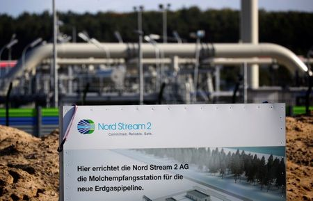 The landfall facility of the Baltic Sea pipeline Nord Stream 2 is pictured in Lubmin, Germany, September 10, 2020. REUTERS/Hannibal Hanschke