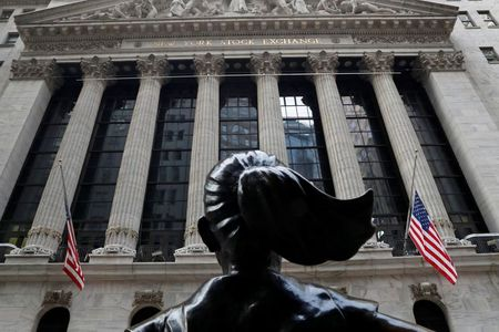 The New York Stock Exchange (NYSE) is seen in the financial district of New York, U.S., January 13, 2021. REUTERS/Shannon Stapleton