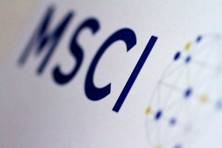FILE PHOTO: The MSCI logo is seen in this June 20, 2017 illustration photo. REUTERS/Thomas White/Illustration