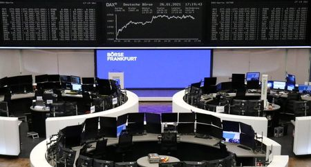 The German share price index DAX graph is pictured at the stock exchange in Frankfurt, Germany, January 26, 2021. REUTERS/Staff