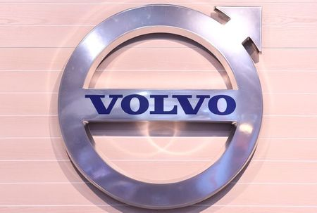 The logo of Swedish truck maker Volvo is pictured at the IAA truck show in Hanover, September 22, 2016. REUTERS/Fabian Bimmer