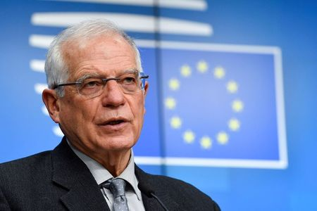 High Representative of the European Union for Foreign Affairs and Security Policy Josep Borrell speaks during a news conference following a meeting with Foreign Ministers at the EU headquarters, in Brussels, Belgium January 25, 2021. John Thys/Pool via REUTERS