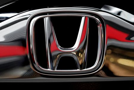Honda's logo on its Modulo model is pictured at its showroom at its headquarters in Tokyo, Japan, February 19, 2019. REUTERS/Kim Kyung-hoon