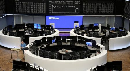 The German share price index DAX graph is pictured at the stock exchange in Frankfurt, Germany, February 10, 2021. REUTERS/Staff
