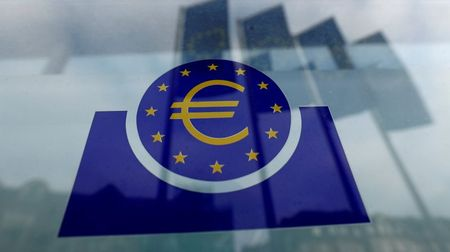 The European Central Bank (ECB) logo in Frankfurt, Germany, January 23, 2020. REUTERS/Ralph Orlowski