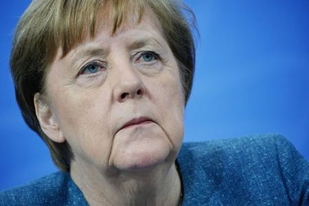 German Chancellor Angela Merkel attends a news conference after discussing the country's vaccination campaign with the leaders of Germany's 16 federal states, amid the outbreak of the coronavirus disease (COVID-19), in Berlin, Germany, April 26, 2021. Michael Kappeler/Pool via REUTERS