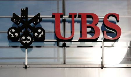 FILE PHOTO: The logo of Swiss bank UBS is seen in Zurich, Switzerland October 25, 2018. REUTERS/Arnd Wiegmann/File Photo