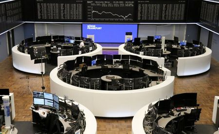 The German share price index DAX graph is pictured at the stock exchange in Frankfurt, Germany, May 19, 2021. REUTERS/Staff