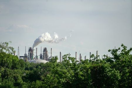 A view of the ExxonMobil Baton Rouge Refinery in Baton Rouge, Louisiana, U.S., May 15, 2021. Picture taken May 15, 2021. REUTERS/Kathleen Flynn