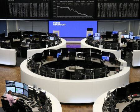 The German share price index DAX graph is pictured at the stock exchange in Frankfurt, Germany, June 18, 2021. REUTERS/Staff