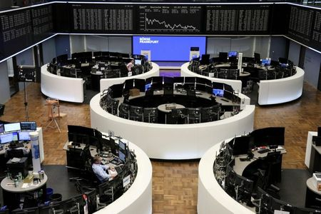 The German share price index DAX graph is pictured at the stock exchange in Frankfurt, Germany, July 15, 2021. REUTERS/Staff
