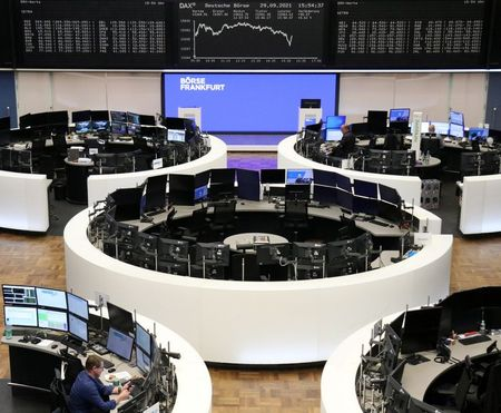 The German share price index DAX graph is pictured at the stock exchange in Frankfurt, Germany, September 29, 2021. REUTERS/Staff